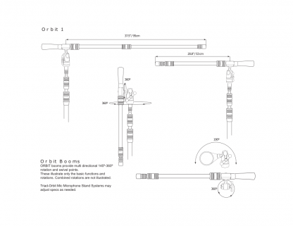 Triad-Orbit O1 Orbit 1 Ball-Swivel Single-Arm Long Boom with IO Quick-Change Coupler
