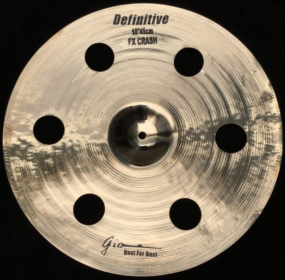"GIO Cymbals - Best For Best - DEFINITIVE 18"" INCH HOLEY CRASH CYMBAL"