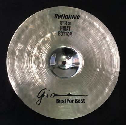 """GIO Cymbals - Best For Best - DEFINITIVE 13"""" INCH HIHAT BOTTOM CYMBAL"""