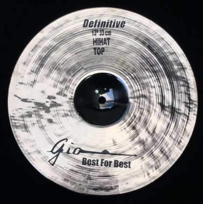 """GIO Cymbals - Best For Best - DEFINITIVE 13"""" INCH HIHAT TOP CYMBAL"""