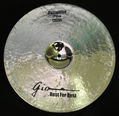"GIO Cymbals - Best For Best - DEFINITIVE 17"" INCH CRASH CYMBAL"