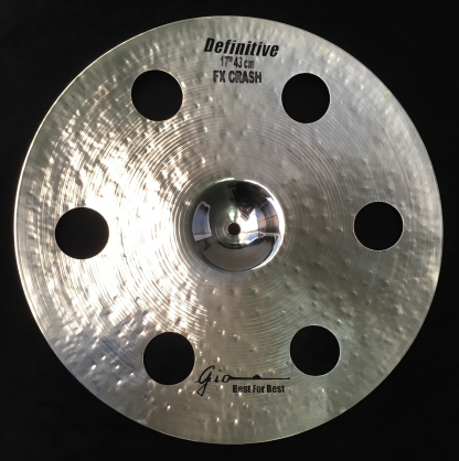 "GIO Cymbals - Best For Best - DEFINITIVE 17"" INCH HOLEY CRASH CYMBAL"