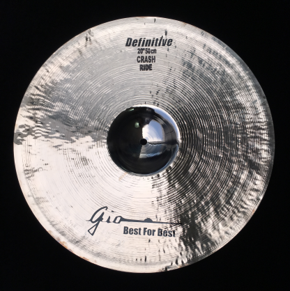 "GIO Cymbals - Best For Best - DEFINITIVE 20"" INCH CRASH RIDE CYMBAL"