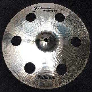 "GIO Cymbals - Best For Best - DEFINITIVE 12"" INCH HOLEY CRASH CYMBAL"