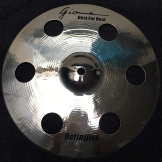"GIO Cymbals - Best For Best - DEFINITIVE 11"" INCH HOLEY SPLASH CYMBAL"