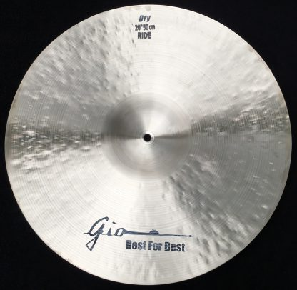 "GIO Cymbals - Best For Best - 20"" DRY RIDE CYMBAL EXTRA LARGE BELL bottom"