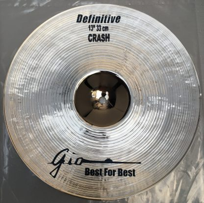 """GIO Cymbals - Best For Best - DEFINITIVE 13"""" INCH CRASH CYMBAL"""