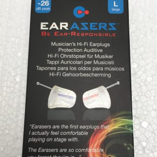 Earasers Musician's Hi-Fi Earplugs, -26 dB front