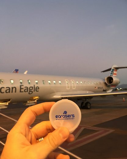 Earasers Peace & Quiet Earplugs - great for flying!