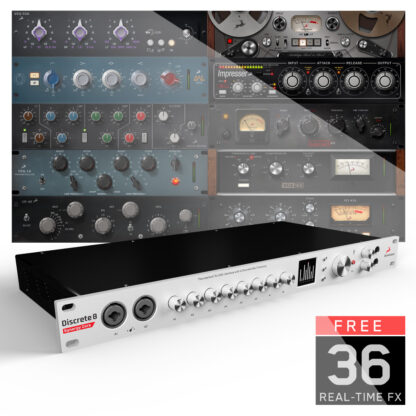 Antelope Audio Discrete 8 Synergy Core - Thunderbolt & USB Audio Interface with 8 Console Grade Discrete Preamps and 37 High Quality FX!