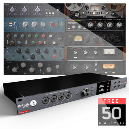 Antelope Audio Orion Studio Synergy Core - TB3 and USB 2 Audio Interface with 12 Console Grade Discrete Preamps (4 in front 8 in back) and 51 Included High Quality FX!